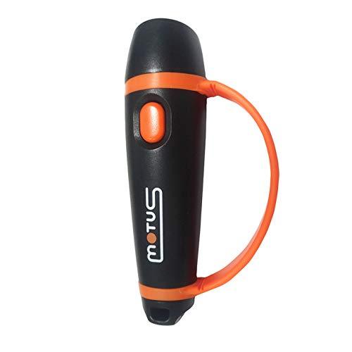 Motus Sybil - Silbato electrónico con Potencia de 120 dB (+/-5dB), 2 Tonos y señal SOS Unisex, Adulto, Negro, Talla única