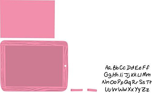 Marianne Design Collectables schoolbord - stempel en stanssjabloon voor het ontwerpen van kaarten en scrapbooking, metaal, roze, 10,7 x 8.1 x 0,4 cm