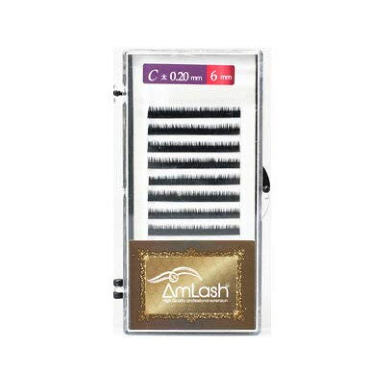 送るサークル安全性Amlash(アムラッシュ)ハイクオリティエクステ Cカール 0.20mm×6mm