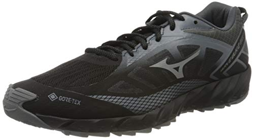 Mizuno Wave Ibuki 2 Gtx, Zapatillas de Running para Hombre, Negro (Black/Quiet Shade/Dark Shadow 34), 41 EU