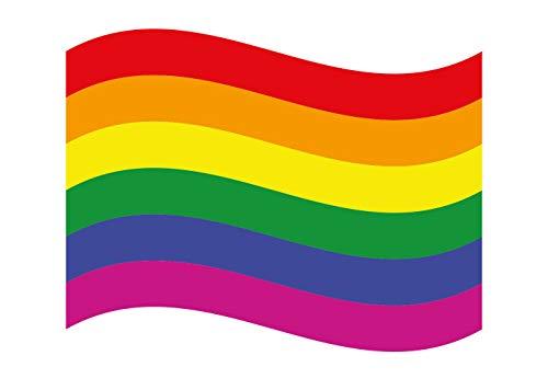 Premium Aufkleber Regenbogen Gay Pride Rainbow Flag Sticker LGBT Movement Waschstrassenfest und UV-Beständig