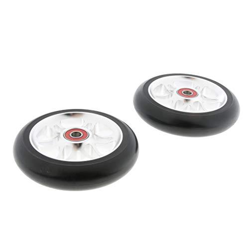2 Unids Stunt Scooter Wheel Ruedas Equipo de Reemplazo Fácil instalación Ligero - Plata