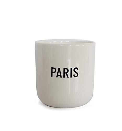PLTY - Taza - Taza sin asa - Porcelana blanca vitrificada a mano - Bone China - Tazas divertidas - Paris - Cities
