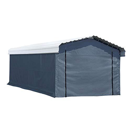Arrow, Fabric Enclosure Kit for 12 x 20-ft Arrow Carports (Metal carport not included)