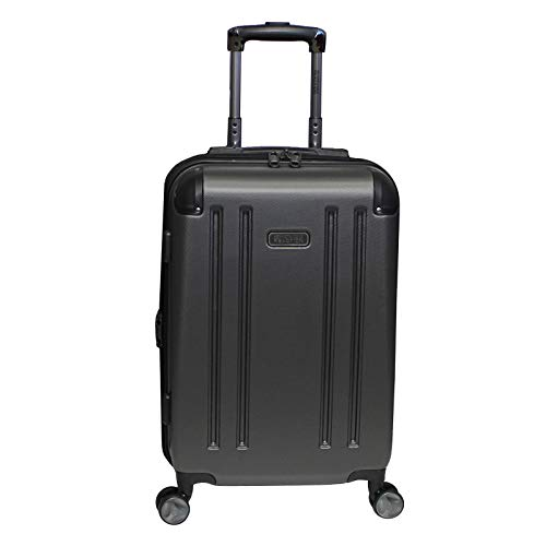 Kenneth Cole Reaction 8 Wheelin Expandable Luggage Spinner Suitcase 20' (Pewter)