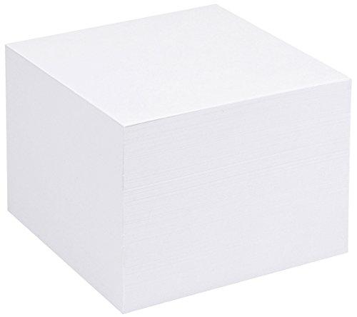 5 Star - Taco de notas de repuesto (para dispensador de notas cuadrado, 750 hojas, 90 x 90 mm), color blanco