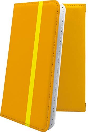 スマートフォンケース・ZenFone5Q ZC600KL・互換 ケース 手帳型 オレンジ おしゃれ ゼンフォン5q ゼンフォン5 手帳型スマートフォンケース・かっこいい zenfone 5q 5 q ボーダー マルチストライプ [AkB58641YPX]