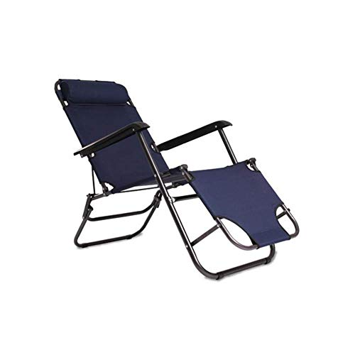 JieER-C Leisure - Silla de oficina reclinable plegable Gravity tumbona para jardín, reposacabezas, duradero