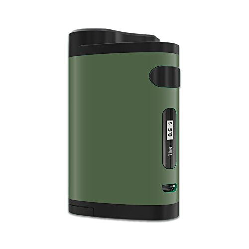 MightySkins Skin Compatible with Eleaf iStick Pico Dual – Solid Olive | Protective, Durable, and Unique Vinyl Decal wrap Cover | Easy to Apply, Remove, and Change Styles | Made in The USA