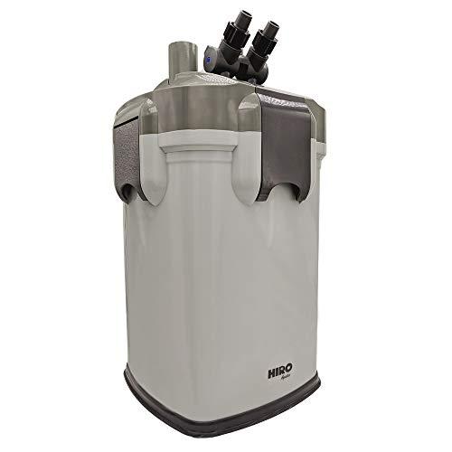 HIRO AQUATICS External Canister Aquarium Filter, 475GPH, Fits up to 100 Gallon Tank, Media Included (Fits 70-100 Gal Tank)