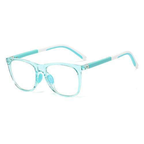 Juleya Anti Blaulicht Brillengestell   Kinderbrillen + Brillenetui   Transparente Linse, Kinder Retro Brillen für Mädchen Jungen - J20080502