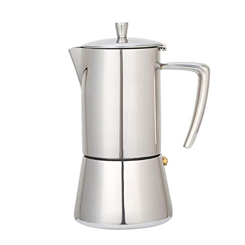 Edelstahl Kaffeekanne Moka Kaffeemaschine Teekanne Mokka Herd Werkzeug Filter Percolator Cafetiere Percolator Küchenwerkzeug,300ml