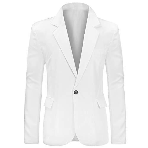 Men's Causal Fit White Blazer Become Sonny Crockett!