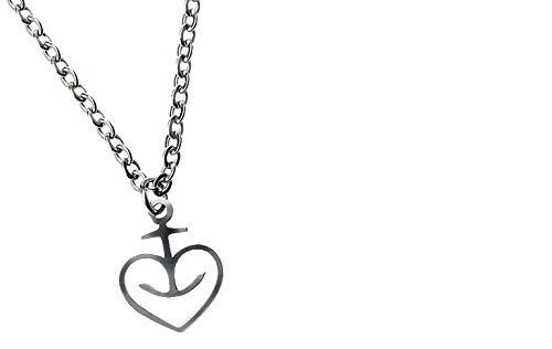 Astra Herzanker Damen Halskette, Edelstahl, Geschenk-Idee aus St. Pauli