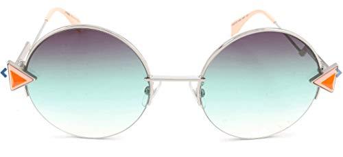 FENDI Sonnenbrille FF 0243/F/S 0Vgv Gafas de sol, Plateado (Silver), 55.0 para Mujer
