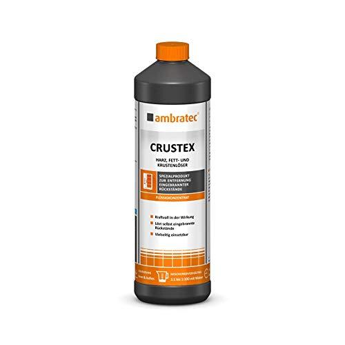 Ambratec Crustex alkalisches Spezialkonzentrat zur Beseitigung hartnäckiger eingebrannter Rückstände bei Konvektomaten, Back- und Bratöfen, Pfannen, Grill- und Frittiergeräten