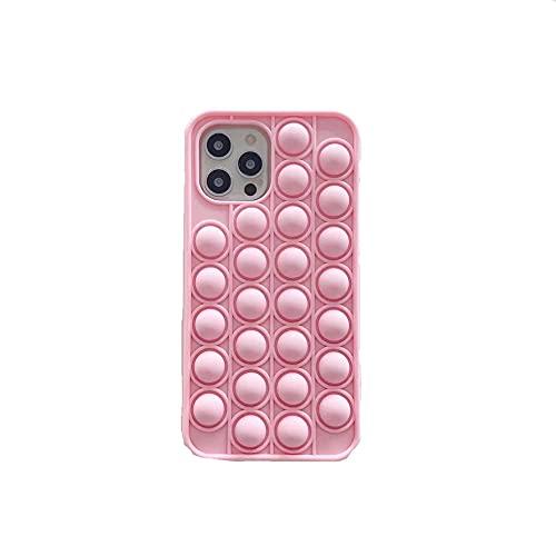 Simple Push Pop Pop Pop Pop Bubble Fidget Sensory Case para iPhone 12 (6.1 pulgadas), regalos simples para todas las edades