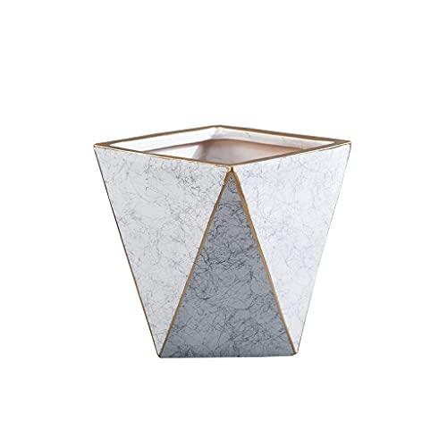 Maceta 8.85 pulgadas Flowerpot de cerámica simple Hogar moderno Sala de estar Oficina Mesa de centro de mesa Decoración de escritorio Maceta 6 colores opcional Contenedores de suculentas modernas