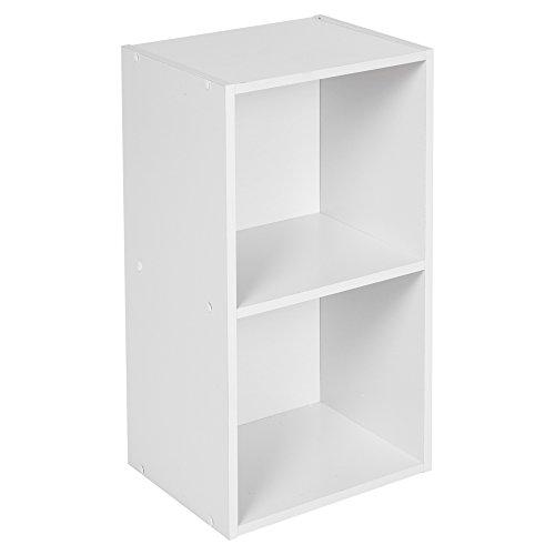 URBN LIVING Étagère de stockage en bois Disponible de 1 à 4 étage(s), blanc, 2 Tier