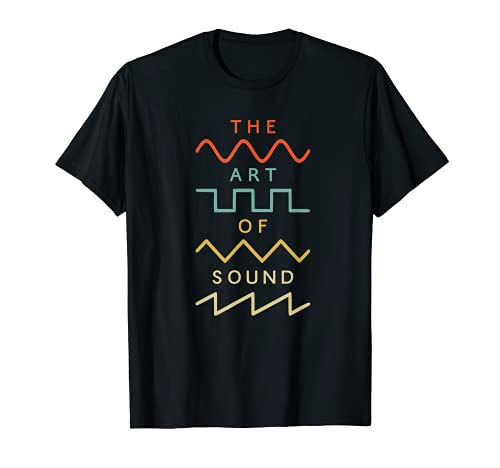 Vintage Retro Waveform Sintetizador Modular Analog Nerd Camiseta