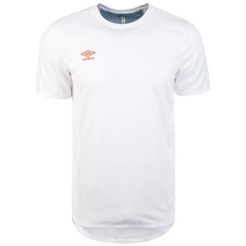 UMBRO 65320u T-Shirt de Sport pour Homme L Blanc