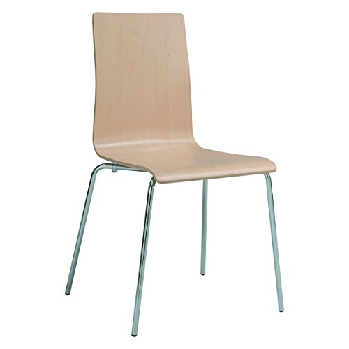 Safco Products Bosk Bentwood Stack Guest Chair, Beech