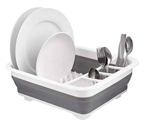 Escurreplatos plegable de silicona para camping, caravana, barco, platos de secado para cubiertos y utensilios de cocina, varios colores