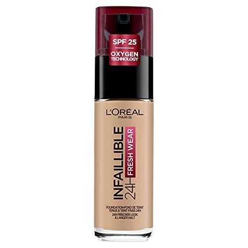 L'Oréal Paris Infaillible 24H Fresh Wear Make-up in Nr. 140 Golden Beige, hohe Deckkraft, langanhaltend, wasserfest, atmungsaktiv, 30 ml