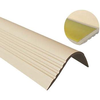 Perfil de borde de escaleras, PVC, goma, autoadhesivo, perfil angular 52 x 40 RGPT: Amazon.es: Bricolaje y herramientas