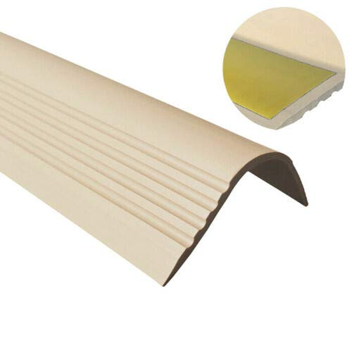 Perfil para bordes de escaleras, PVC, goma, autoadhesivo, vinilo, perfil angular 52 x 40 RGPT