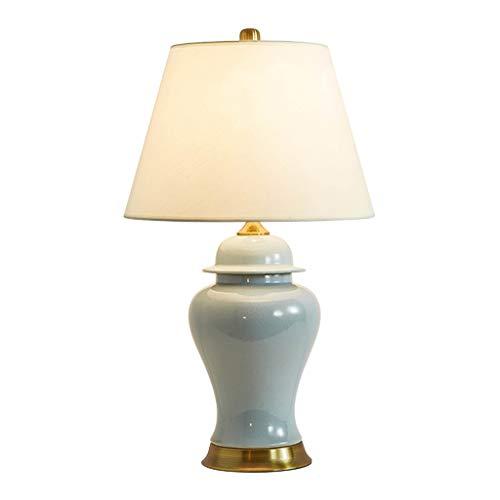 YI0877CHANG Lamparilla de Noche Tabla Lámpara de cerámica de cerámica grieta Sala Gran Mesa de Dormitorio de la lámpara lámpara de cabecera Lámpara Mesilla