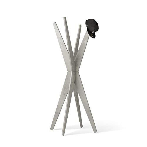 Mobili Fiver, Appendiabiti da Terra di Design, Emma Cemento, 80 x 80 x 170,5 cm, Nobilitato, Made in Italy, Disponibile in Vari Colori