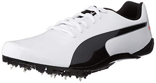 PUMA Evospeed Prep Sprint 2, Zapatillas de Atletismo Unisex Adulto, Blanco White Black-Lava Blast, 43 EU