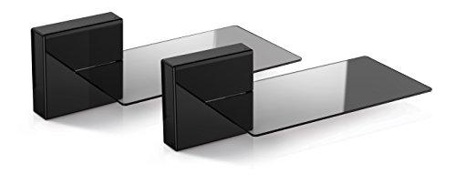 Meliconi Ghost Cube Soundbar Nero, Sistema Copricavi Componibile con Mensola in Vetro per Soundbar