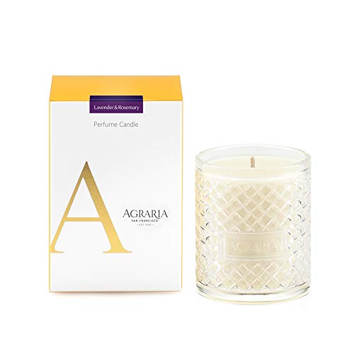 AGRARIA Lavender and Rosemary Scented 7oz Perfume Candle - Premium Soy-Based Wax
