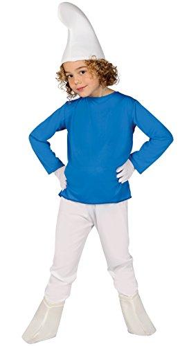 Guirca- Disfraz enanito, Color azul, Talla 10-12 años (81556.0)