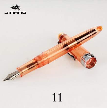 Jinhao luxe Iraurita transparante vulpennen INKT penpunt schrijven bedrijf kantoorbenodigdheden briefpapier 11