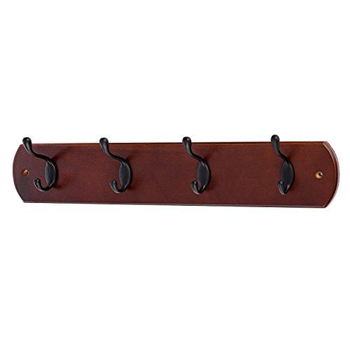 2 Piezas 6-Ganchos de Bronce Antiguo Percheros de Pared para Abrigos Sobre Tabla de Madera Perchero Percha (Mediterráneo Azul)