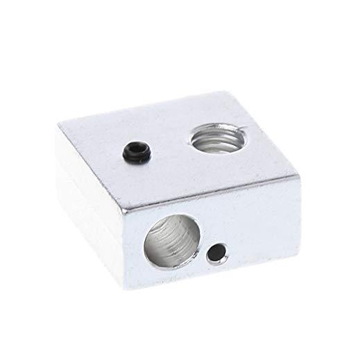 Blocco riscaldante in alluminio 20 x 20 x 10 mm M6 M3 filettatura per stampante 3D Makerbot MK7/MK8