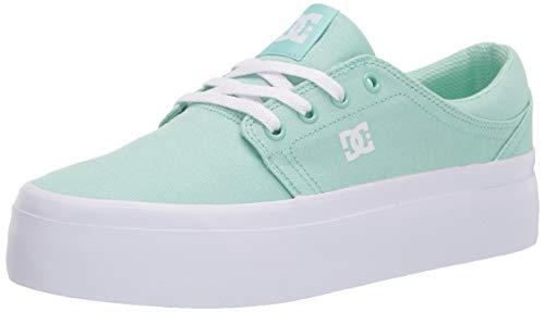 DC womens Trase Platform Skate Shoe, Mint, 8.5 US