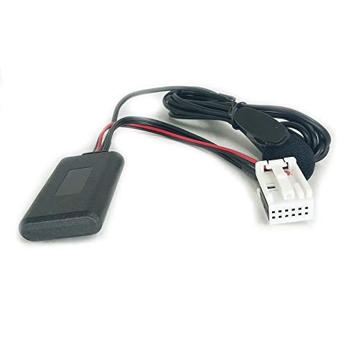 Bluetooth AUX Adapter Kabel Met Microfoon voor Volkswagen Radio RCD110 RCD210 RCD310 RCD510 RNS510 12Pin MP3 AUX in Draadloze Adapter