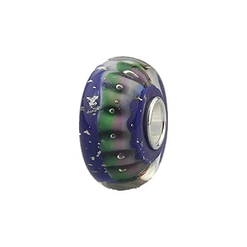 LIJIAN DIY 925 Sterling Silber 3D Blumenstern Glasanhänger Perlen Geeignet Für Halskette Armband Schmuck Geschenk