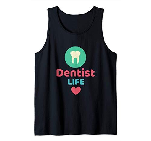 Dentista Vida Divertido Higienista Dental Regalo Dentistas Camiseta sin Mangas