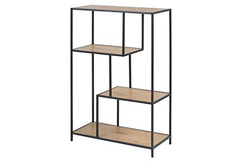 AC Design Furniture Regal Jörn, B: 77 x T:35 x H: 114 cm, MDF, Braun