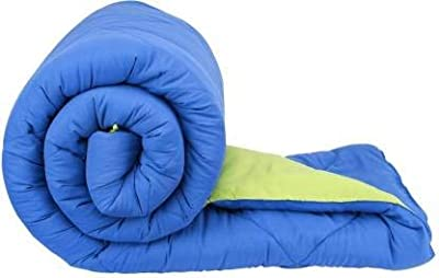 "Fabrique Reversible Comforter   All Season Comforter Filled with Hypoallergenic Micro Fiber   1 Comforter (Teal & P.Green,250GSM, Double, 90""x100"")"