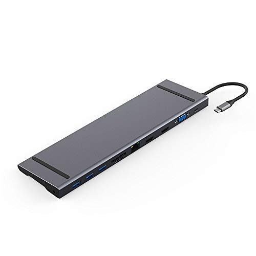 GJQDDP USB C Hub, Type-C Docking compatibl for iMac/MacBook/Pro/Air, Huawei MateBook/Pro, Huawei and Samsung tablet, Huawei P20, Samsung S10/9/8 and other devices