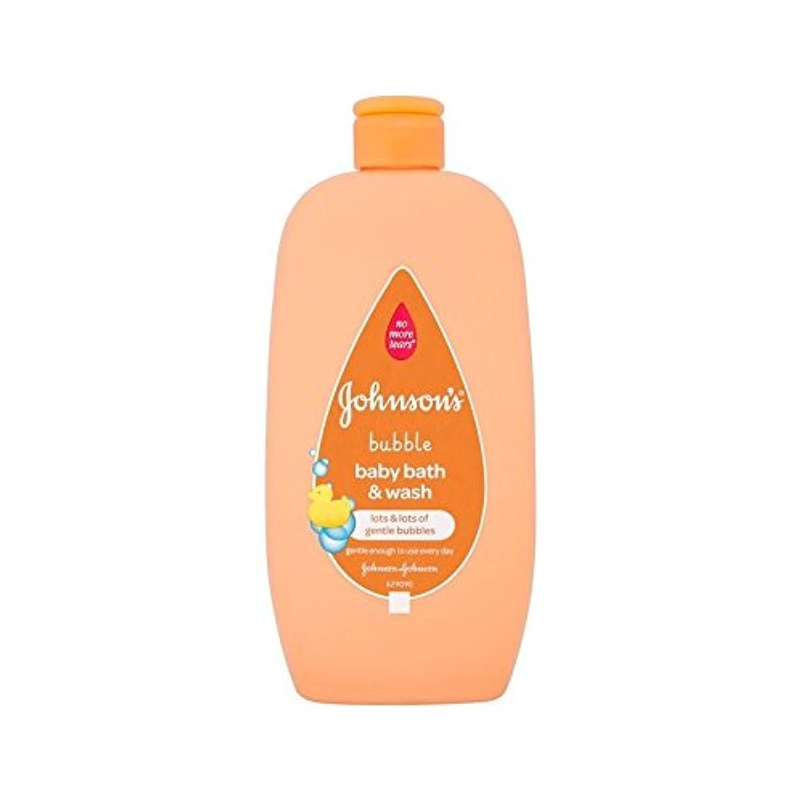と公平な残り物2In1は泡風呂&500ミリリットルを洗います (Johnson's Baby) - Johnson's Baby 2in1 Bubble Bath & Wash 500ml [並行輸入品]