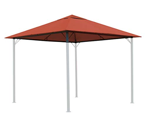 QUICK STAR Replacement Roof for Garden Gazebo 3x3m Orange-Red
