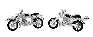 Boutons de manchette moto Custom 3d