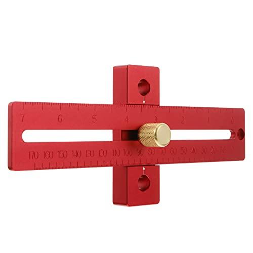 TINKSKY スライドライン定規平行定規マーカー正確なマーキングゲージカーペンター鋼ストレート定規ツールアウトジョブマーキング木工